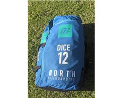 North Dice 12 metre kiteboarding kite