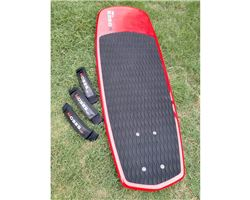 Moses T38 Board + Footstraps + Board Bag foiling kite foilboard