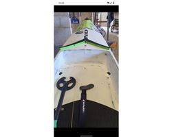 "One Unlimited Dugout 25 inches 17' 0"" stand up paddle racing & downwind board"