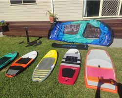 Boards (Lots!) & 6M Wing Ding & Mfc Foil foiling prone/surf foilboard