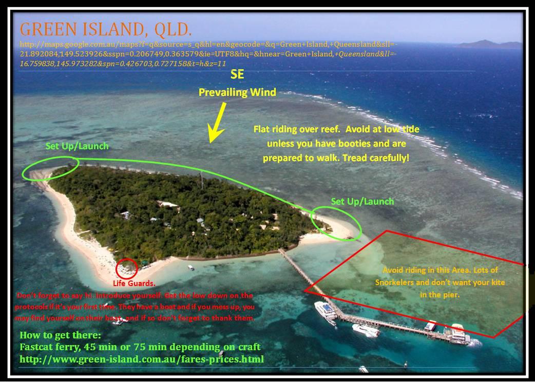 kitesurfing green island qld photo. Black Bedroom Furniture Sets. Home Design Ideas