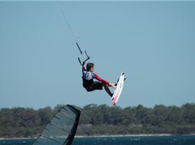 indy over windsurfer (Mandurah)