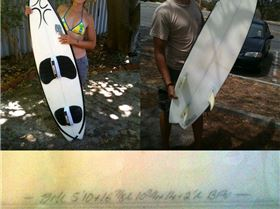 Lost surfboard 5'10 Geraldton/Point Moore Bruce Montgomery Design