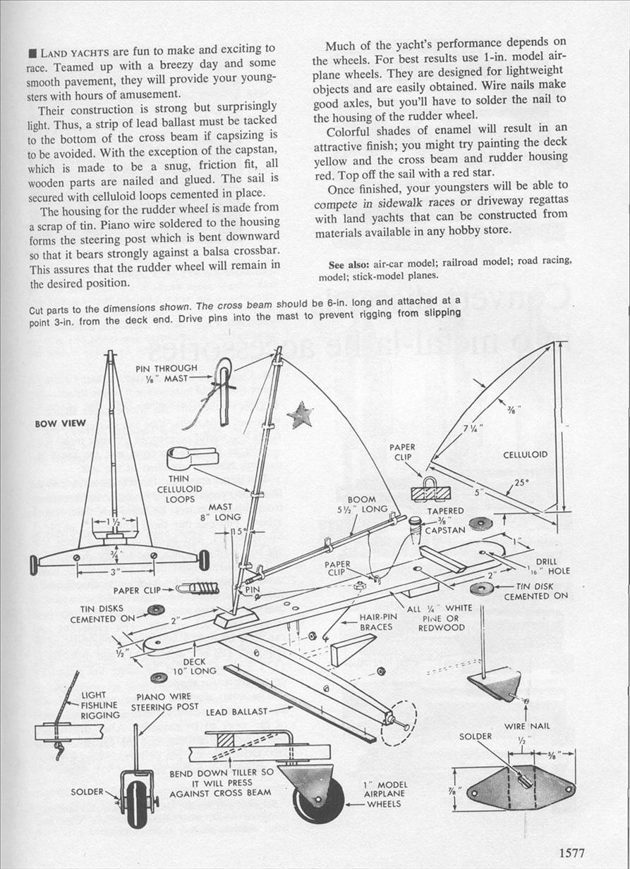 how to build a land yacht plans