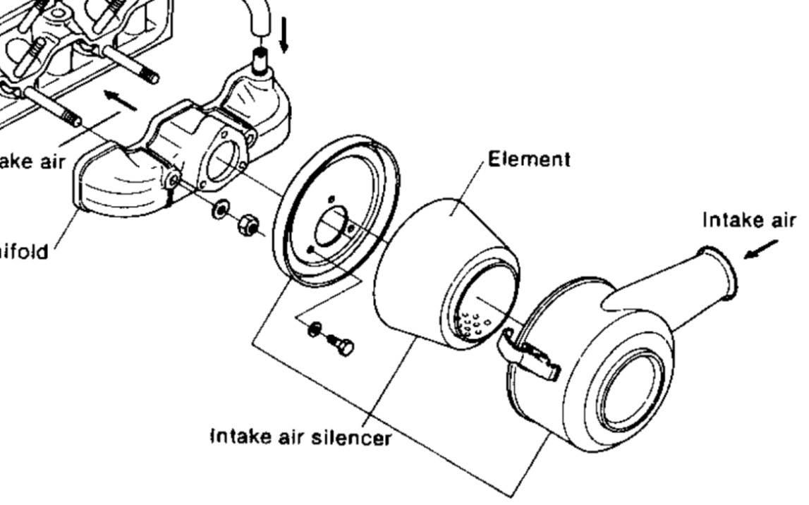 air filter on marine diesels