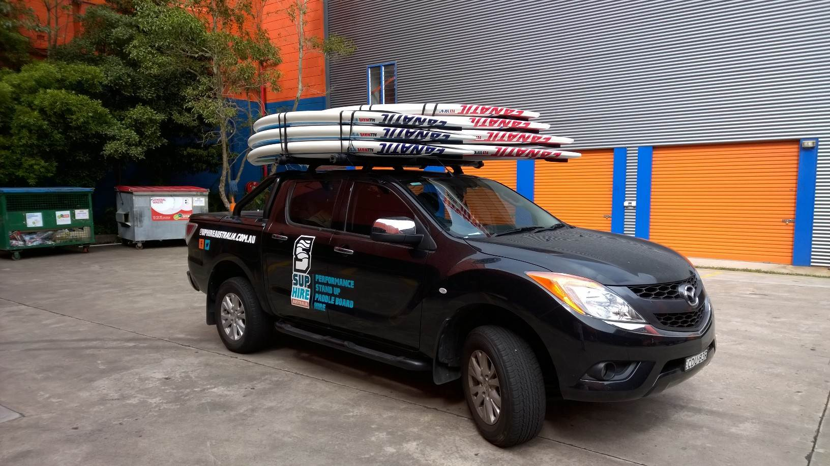Transporting Two Sups On A Car Roof Stand Up Paddle