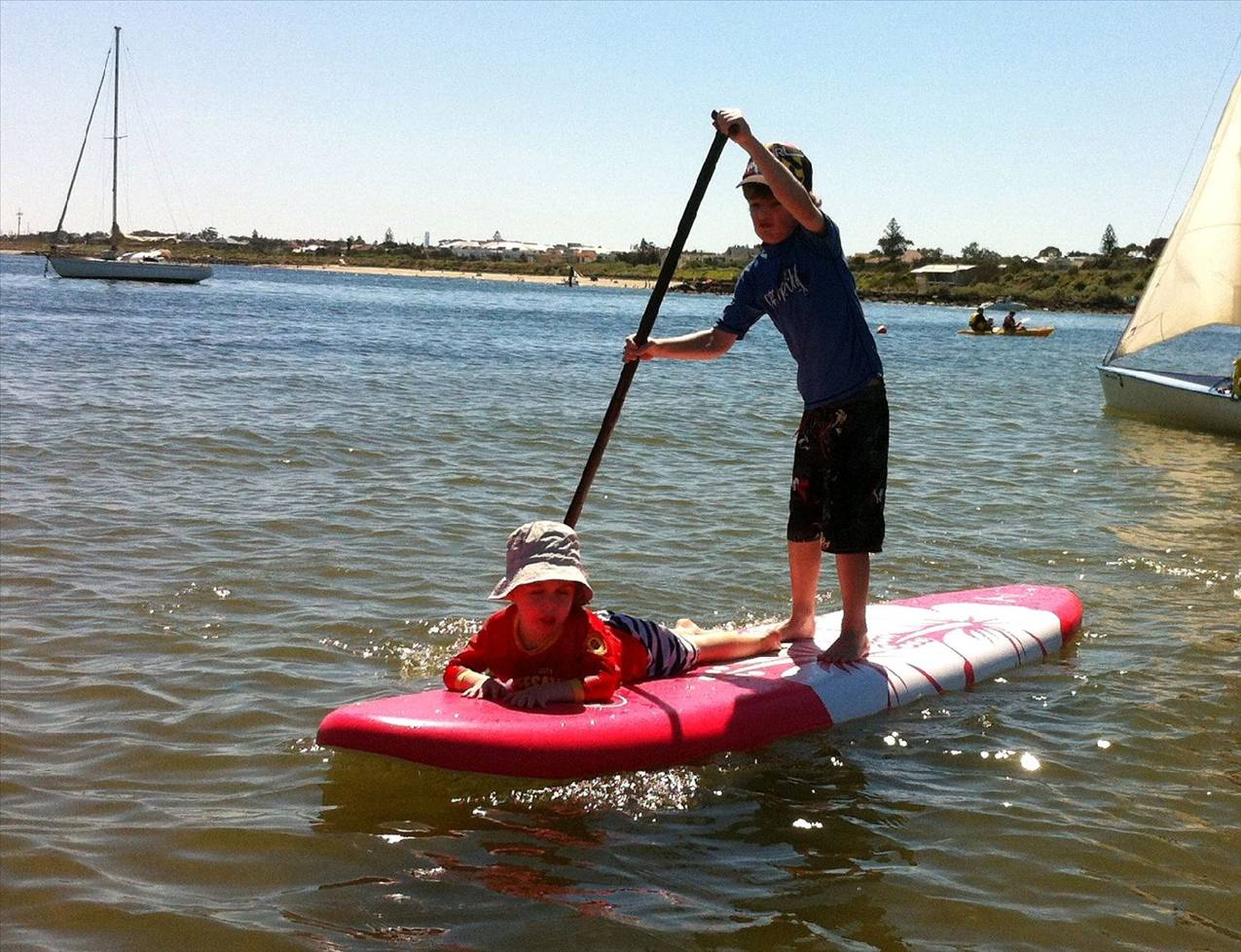 Sunny King Soft Top Boards In The Surf Stand Up Paddle