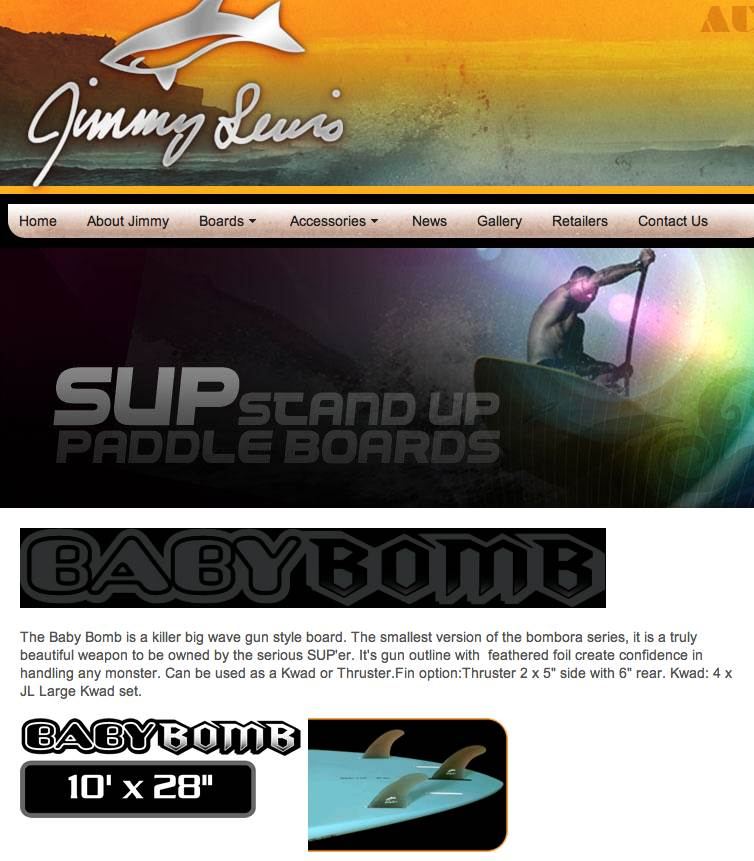 Jimmy Lewis Baby Bombora Stand Up Paddle Forums Page 1