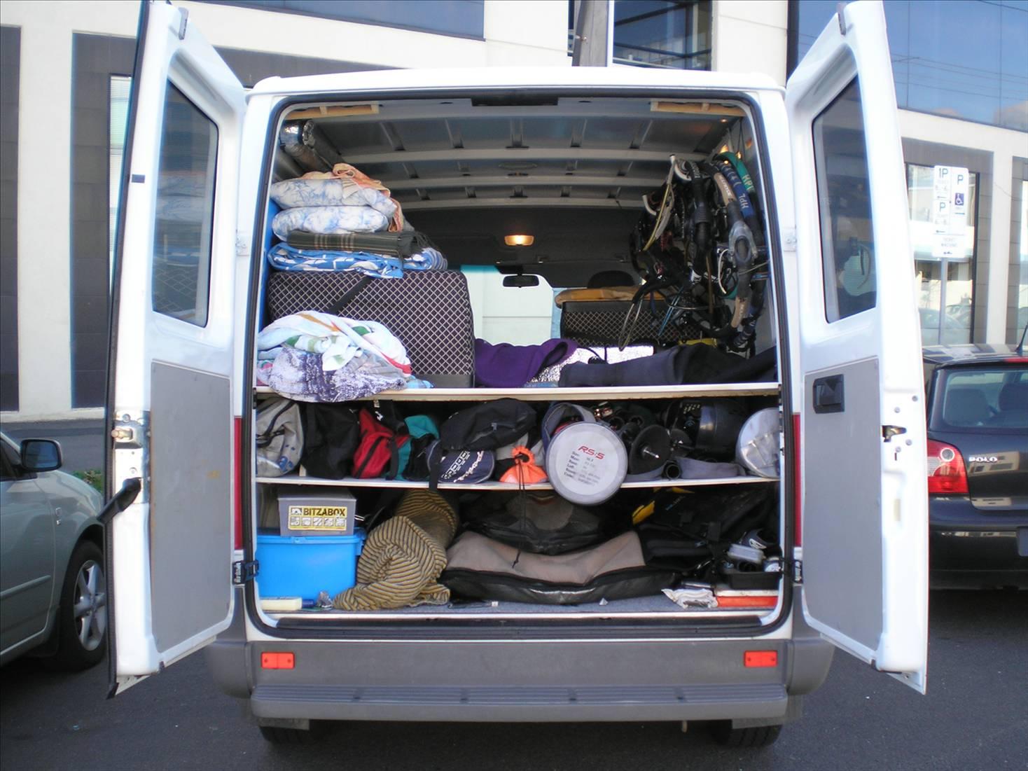 Windsurfing Van Layout Photo