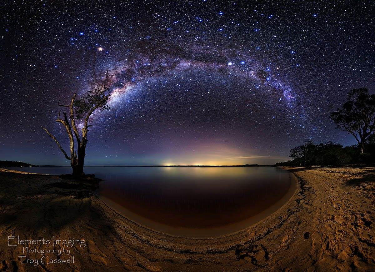milky way galaxy from earth wallpaper hd
