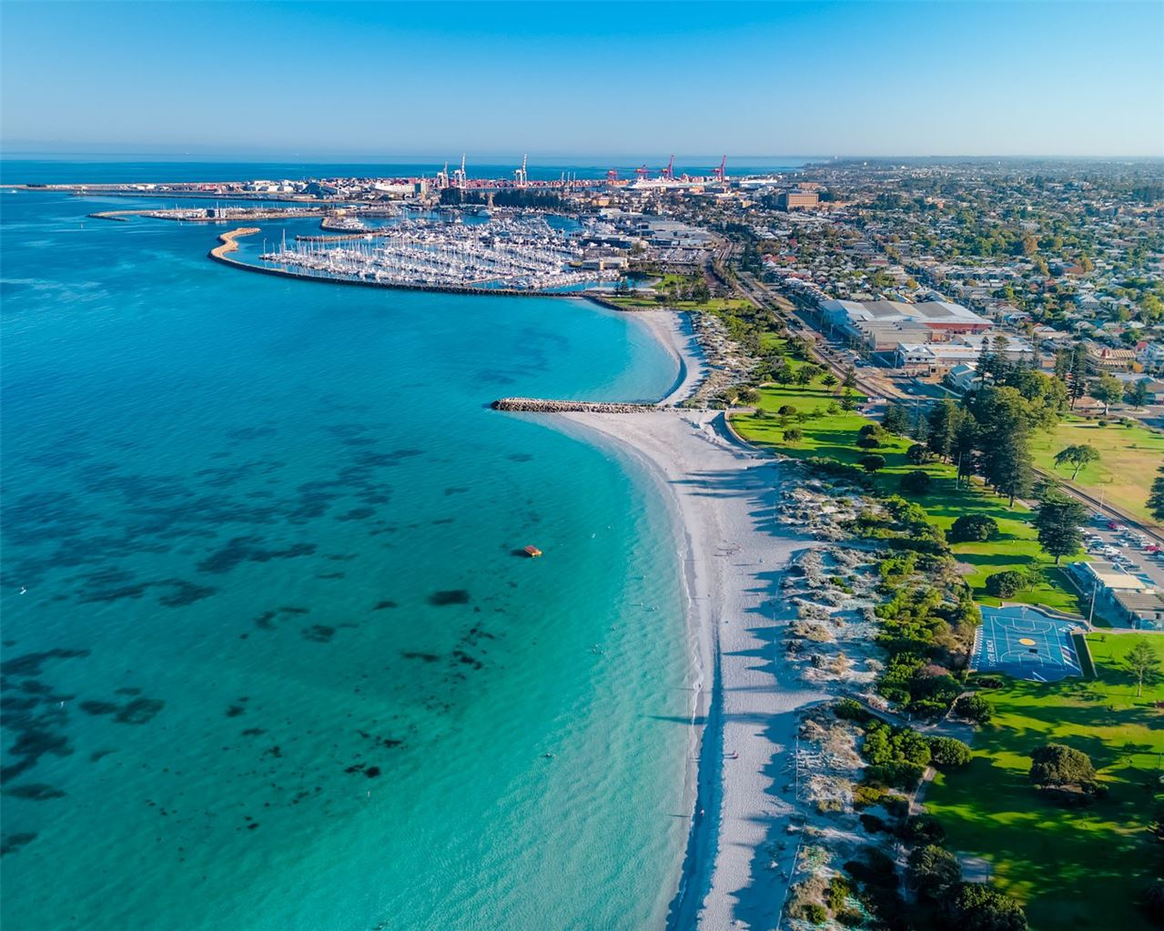 Fremantle South Beach and Fremantle Yacht Club