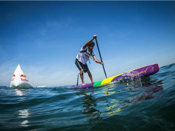 Windy conditions for first Red Bull Water Maze - Stand Up Paddle News