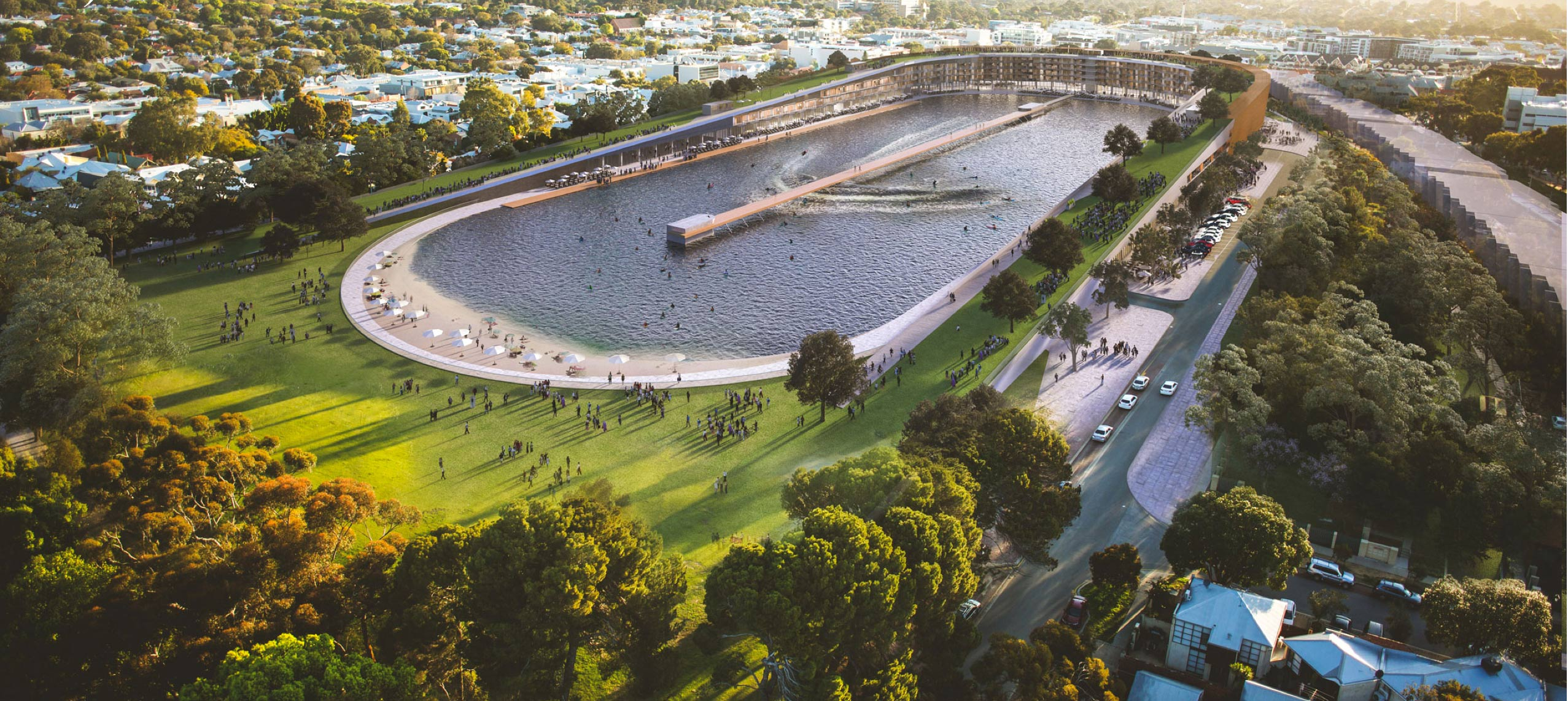Artificial waves proposed in subiaco wa seabreeze for Architecture firms perth