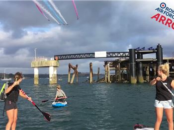 SUP provides ultimate Airshow vantage point! - Stand Up Paddle News