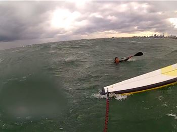 SUP Blows away from paddler - with child on board! - Stand Up Paddle News