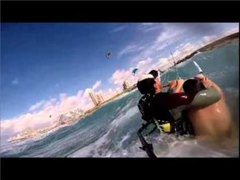 Where are your pants mate? Kite Rescue Gone Wrong! - Kitesurfing News