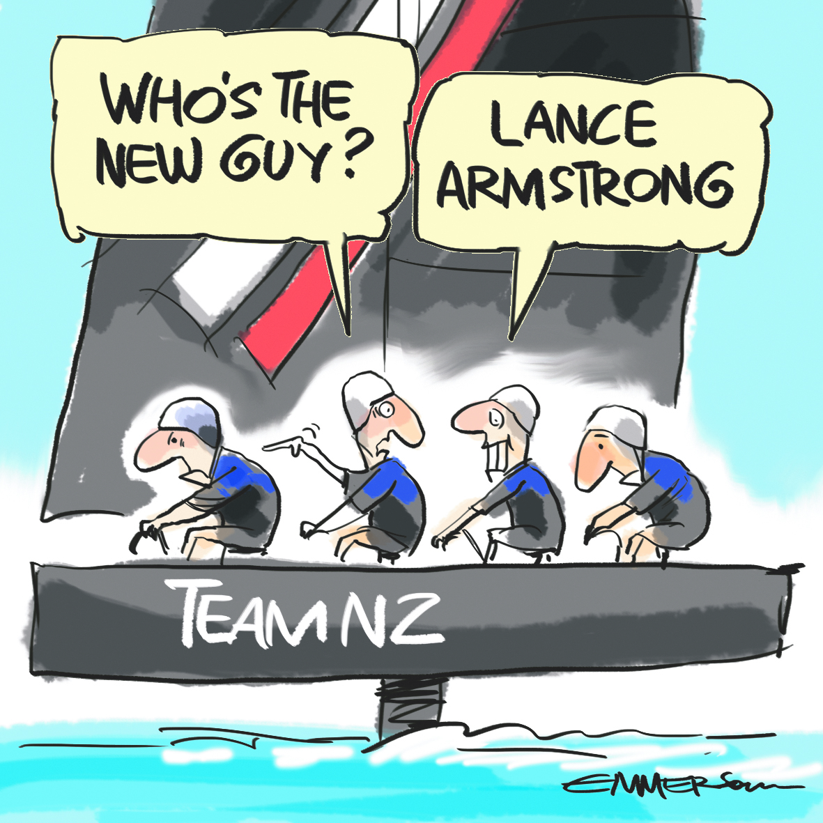 Team Nz Pedal Towards Americas Cup Win Literally Seabreeze