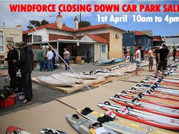 Windforce Closing Down - Huge Carpark Sale! - Windsurfing News