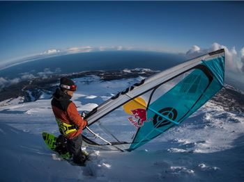Windsurfing Down a Mountain (A Snowy One!) - Windsurfing News