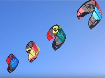 Four Kites - One Kiteboarder! How to Stack Inflatable Kites - Kitesurfing News