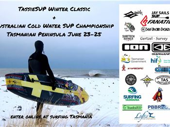 A Bunch of Mad Paddlers in Tassie - TassieSUP Winter Classic