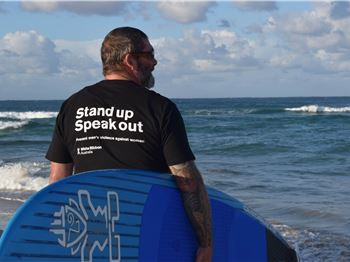 Paddler Standing Up For Family and Domestic Violence
