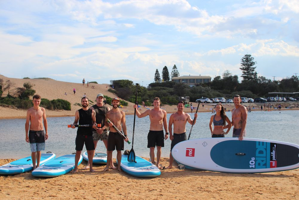 Red Paddle Co boards with Fit State of Mind Team