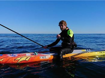 The Danish Viking paddled 137 km from Denmark to Norway
