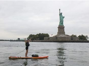 Brit paddles 250km on her SUP for a good cause