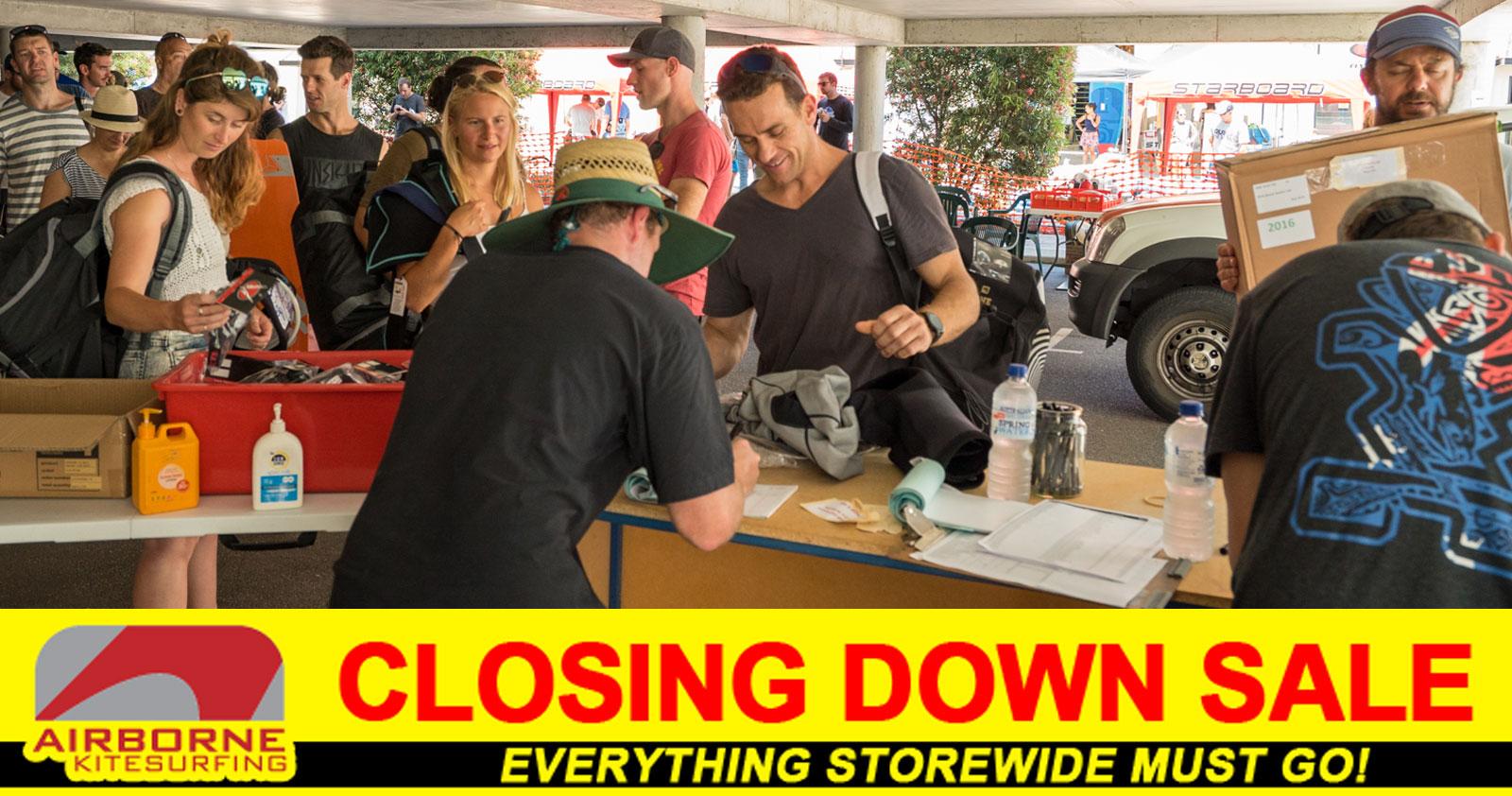 Airborne Kitesurfing Closing Down Sale