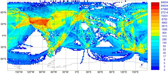 World Wide Coverage of Observations from Aircraft