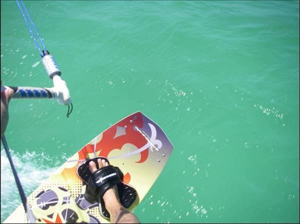 Kitesurfing board control