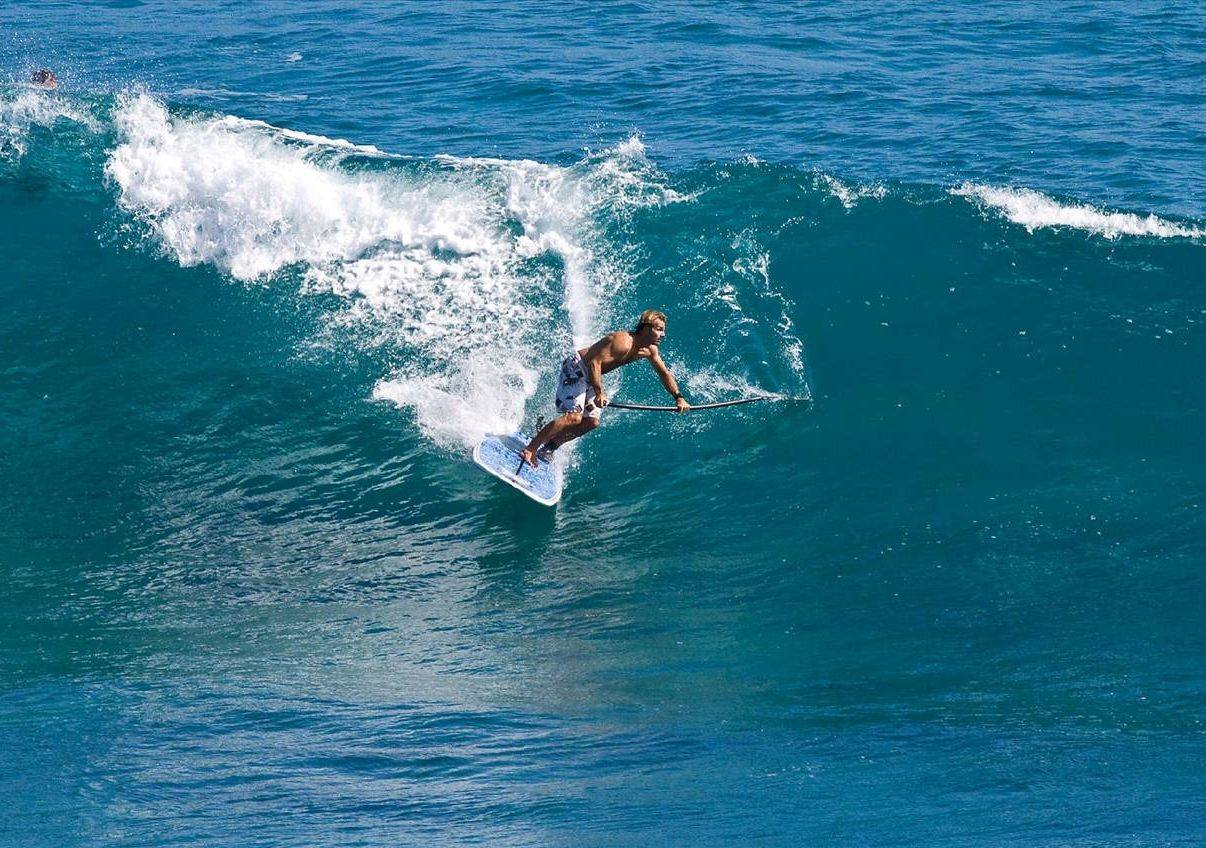 Surfing on a SUP