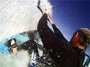 Filming kitesurfing over your shoulder with a GoPro HD - Kitesurfing Articles