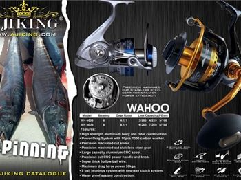 Products: Ajiking's heavy-duty spin reel - Fishing News