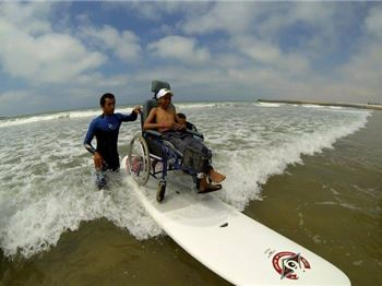 Taking disabled kids surfing in Morocco - Surfing News