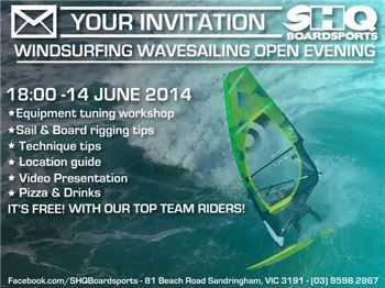 WAVESAILING INFO NIGHT - SHQ BOARDSPORTS - Windsurfing News