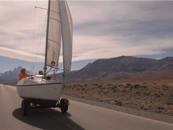 Luxury Land Sailing in a 70's Trailer-Sailor - Sailing News