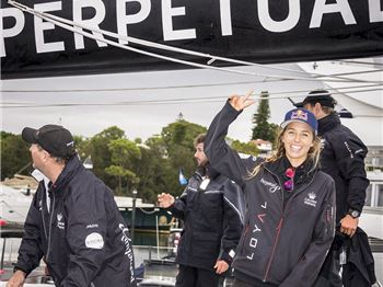 Sally Fitzgibbons turns green during the Sydney to Hobart. - Surfing News