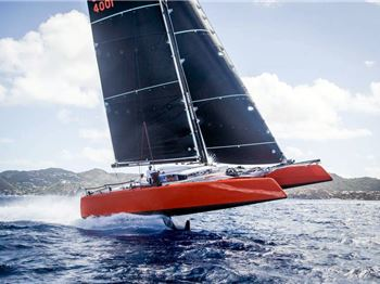 Gunboat G4 Timbalero goes top-down in St Barths - Sailing News