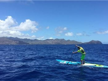 Aussie wins Molokai to Oahu Race on production board - Stand Up Paddle News