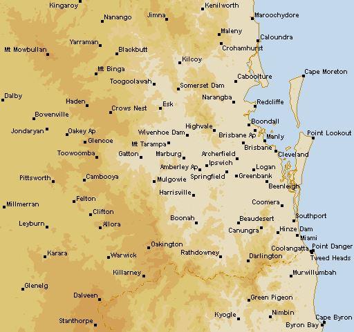 Brisbane (Marburg) Rain Radar (QLD), 128km | Seabreeze