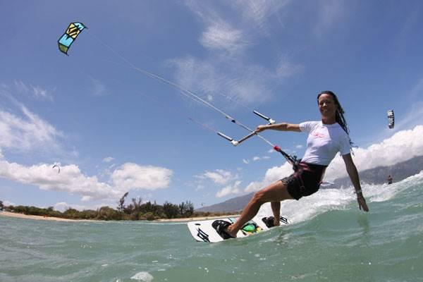 Kiteboarding girls