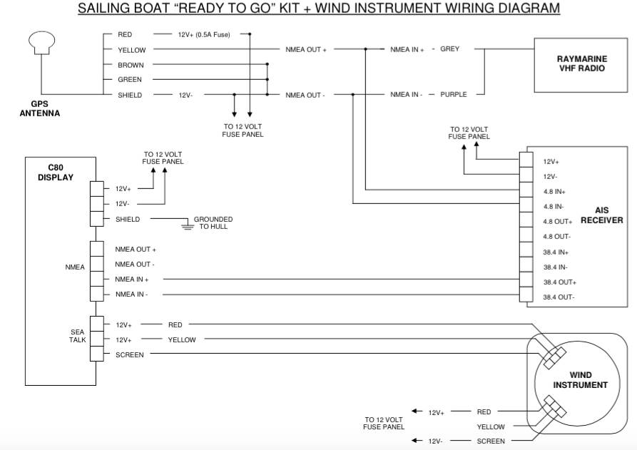 9165150 Raymarine C Wiring Diagram on seatalk hs, c120 cable for radar, patch cable, gps antenna, fluxgate compass, b256 transducer,