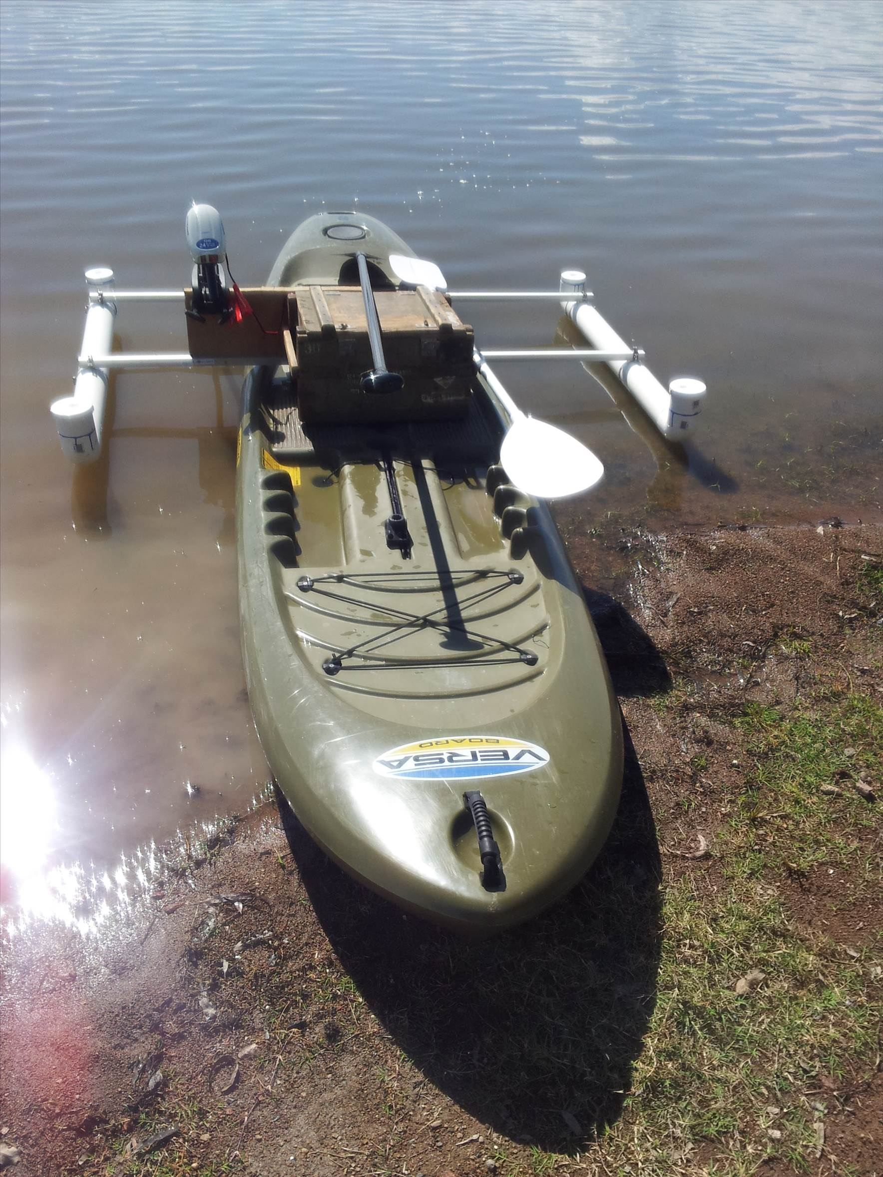 Diy Electric Motor Mount And Outriggers For Sup Stand Up