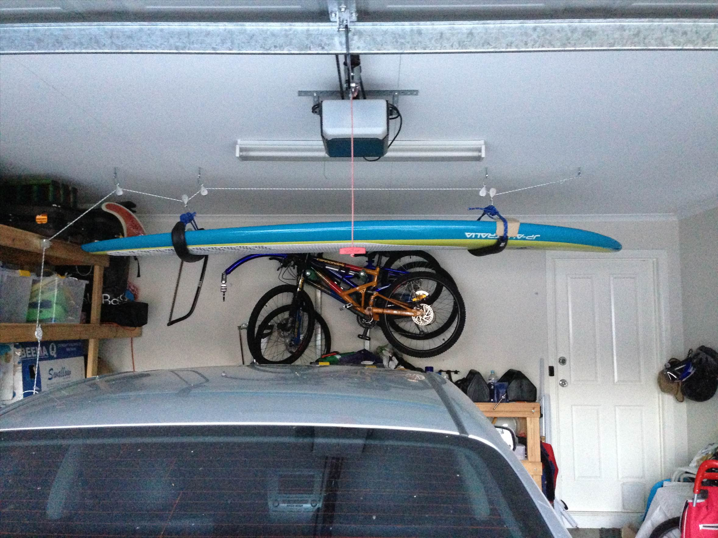 with storage lift panels overhead ideas wall white system cabinet and garage ceiling furniture mounted wood bike