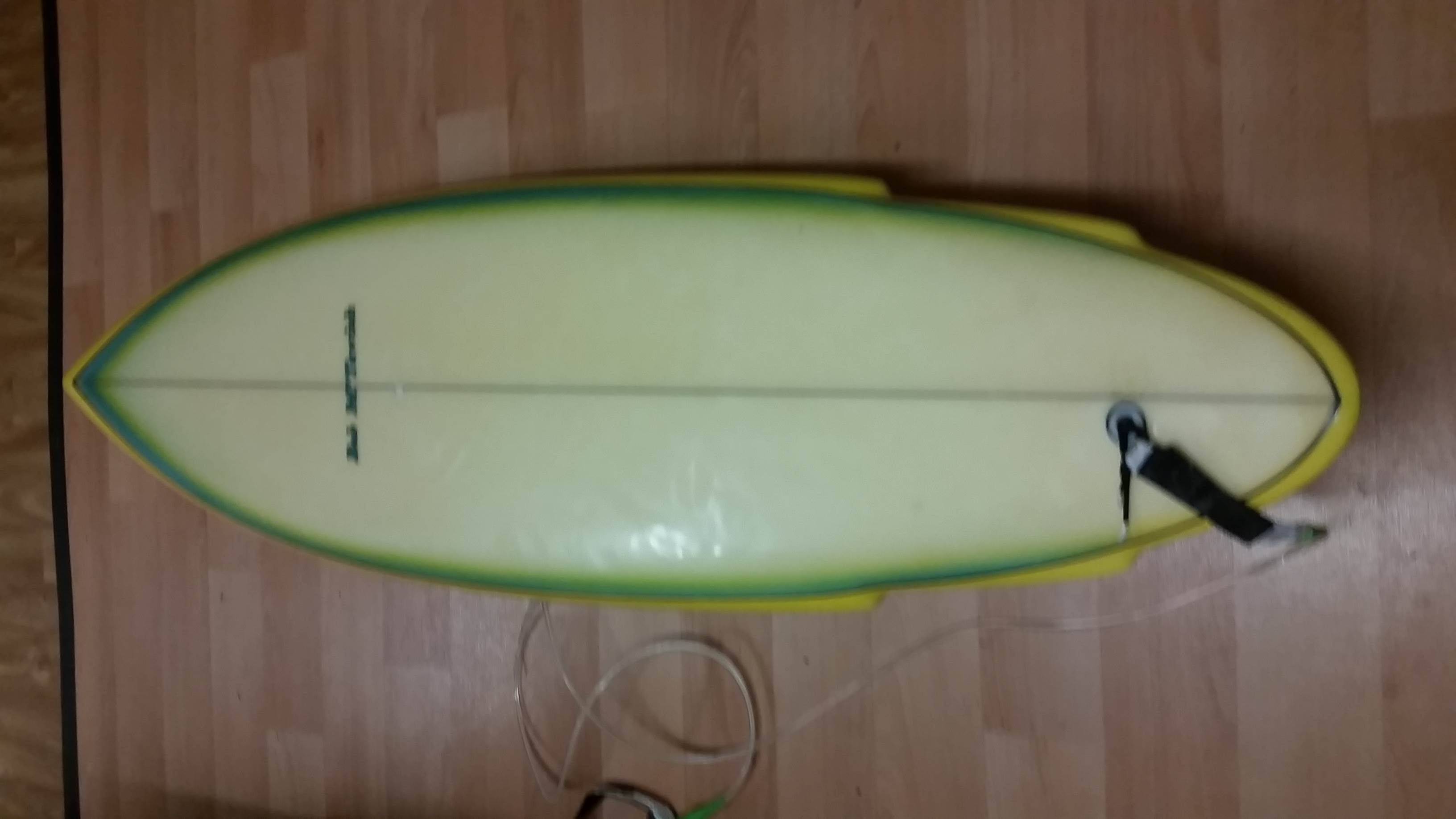 Lime themed shortboard