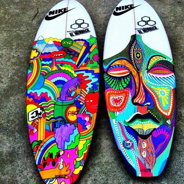 Surfboard artwork just crazy surfing forums page 2 for Awesome surfboard designs