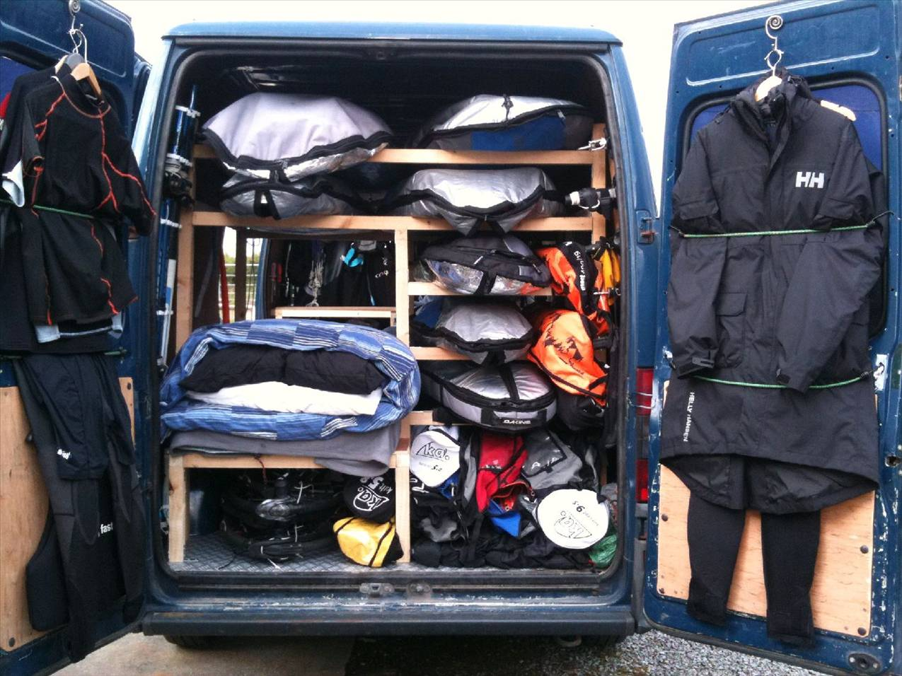 Internal Board Racks Hiace Van Windsurfing Forums Page 1